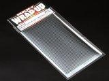 【ネコポス対応】ラップアップ(WRAP-UP)/REAL 3Dグリルデカール シルバー 130x75mm(ライン/太目)