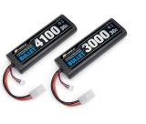 G-FORCE(ジーフォース)/GFG008/BULLET LiPo 7.4V 4100mAh バッテリー(バレットリポ)ストレートパック