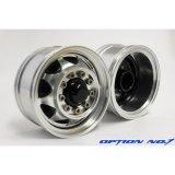 OPTION No.1(オプションNo.1)/OUT-HH-WL012/(アウトレット特価50%オフ)1/14トレーラー用アルミフロントワイドホイール(2個入)25mm幅