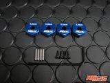 【ネコポス対応】KN企画/KN-WH07KB/【RC926】 アルミクランプ式ホイールハブ(5mm厚) 4個入/KNブルー