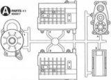(6月9日発売予定/予約分)タミヤ(TAMIYA)/OP-1750/4×4ピックアップ マットクロームギヤボックス (Aパーツ)