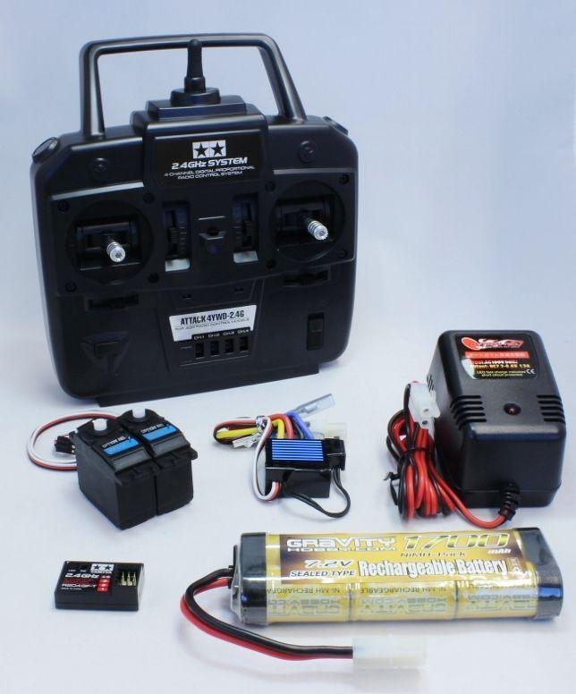 電動カー/組立キット4CHプロポ付フルセットの内容