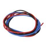 【ネコポス対応】EAGLE(イーグル)/2263-40/シリコン銀コードセット・18G[ゲージ](赤、黒、青 各40cm)