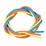 【ネコポス対応】イーグル(EAGLE)/3222/シリコン銀コードセット・16G[ゲ-ジ](青、黄、橙各60cm)