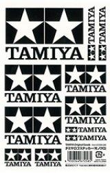【ネコポス対応】タミヤ(TAMIYA)/67258/TAMIYA(タミヤ)ロゴステッカー モノクロ