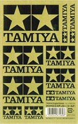【ネコポス対応】タミヤ(TAMIYA)/67260/TAMIYA(タミヤ)ロゴステッカー ゴールド