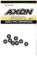 【ネコポス対応】AXON(アクソン)/OR-SO-003/ブラックシリコンリング(P3/ミディアムソフト)8個入