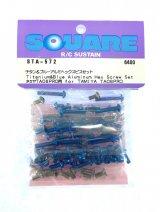 【ネコポス対応】スクエア(SQUARE)/STA-572/タミヤTA08PRO用チタン&ブルーアルミヘックスビスセット